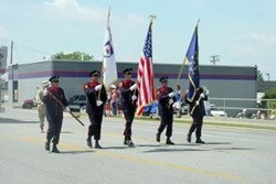 Carmel Fire Department Honor Guard marching in Carmelfest Parade