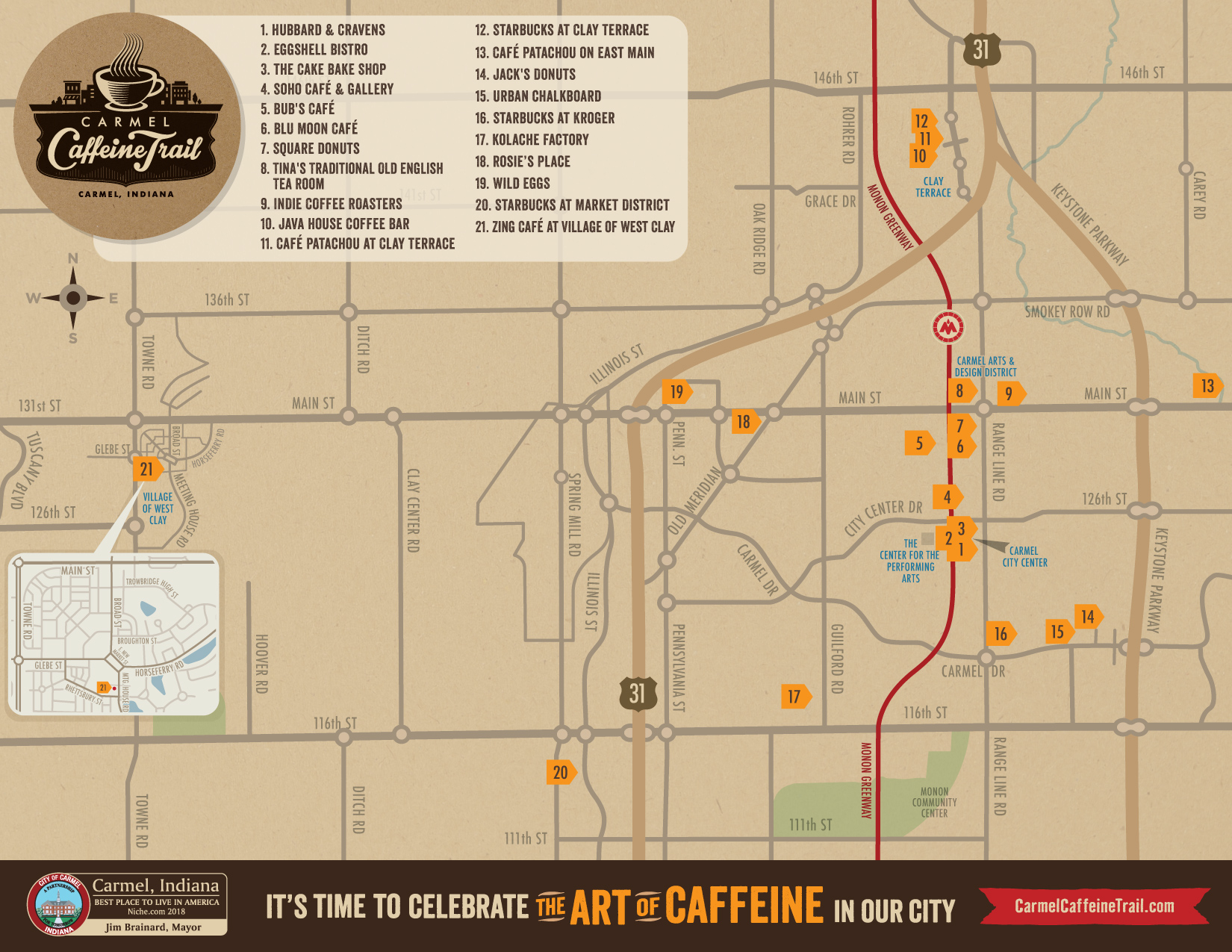 7/19 Map Caffine Trail