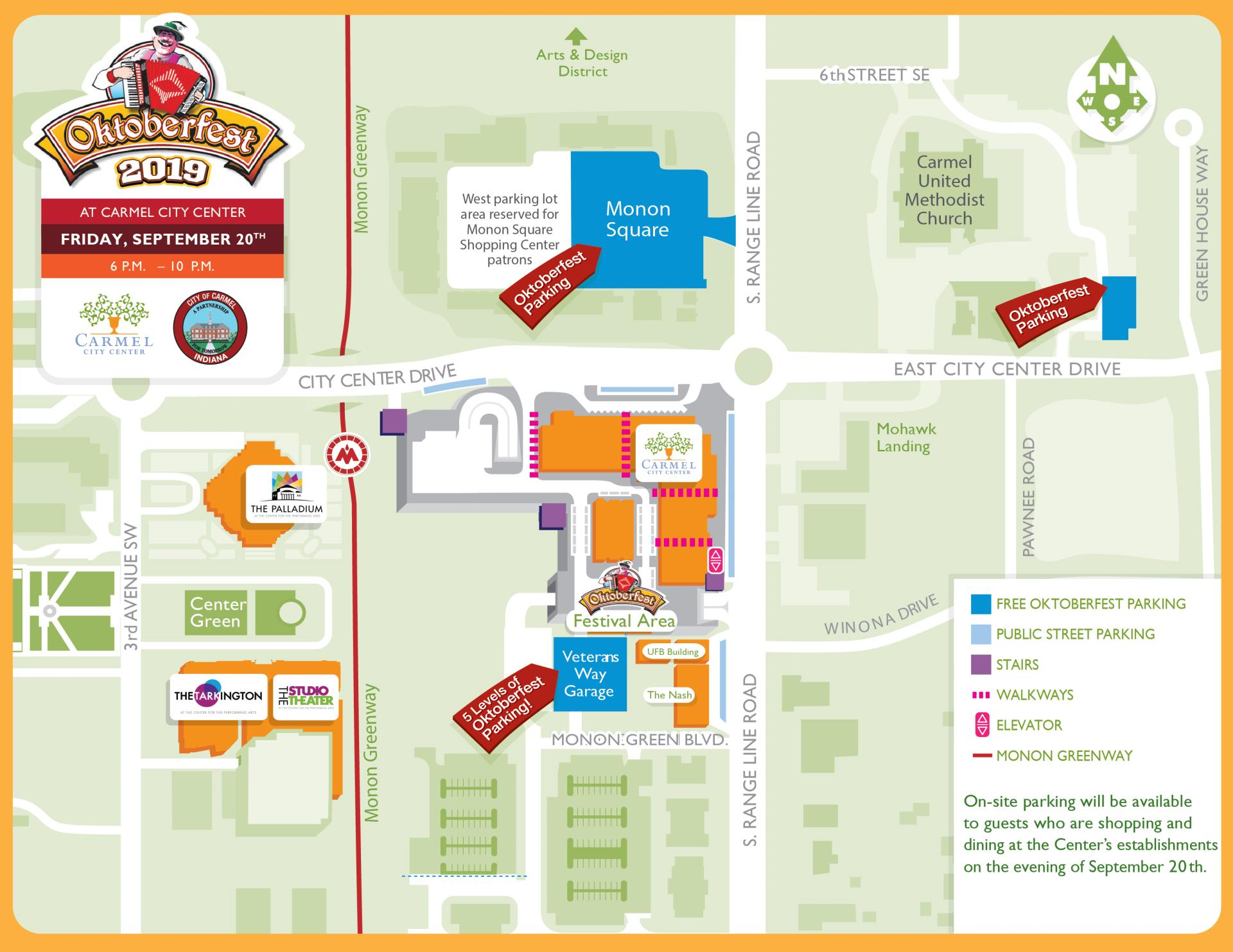 OktoberFest Parking Map Carmel, Indiana