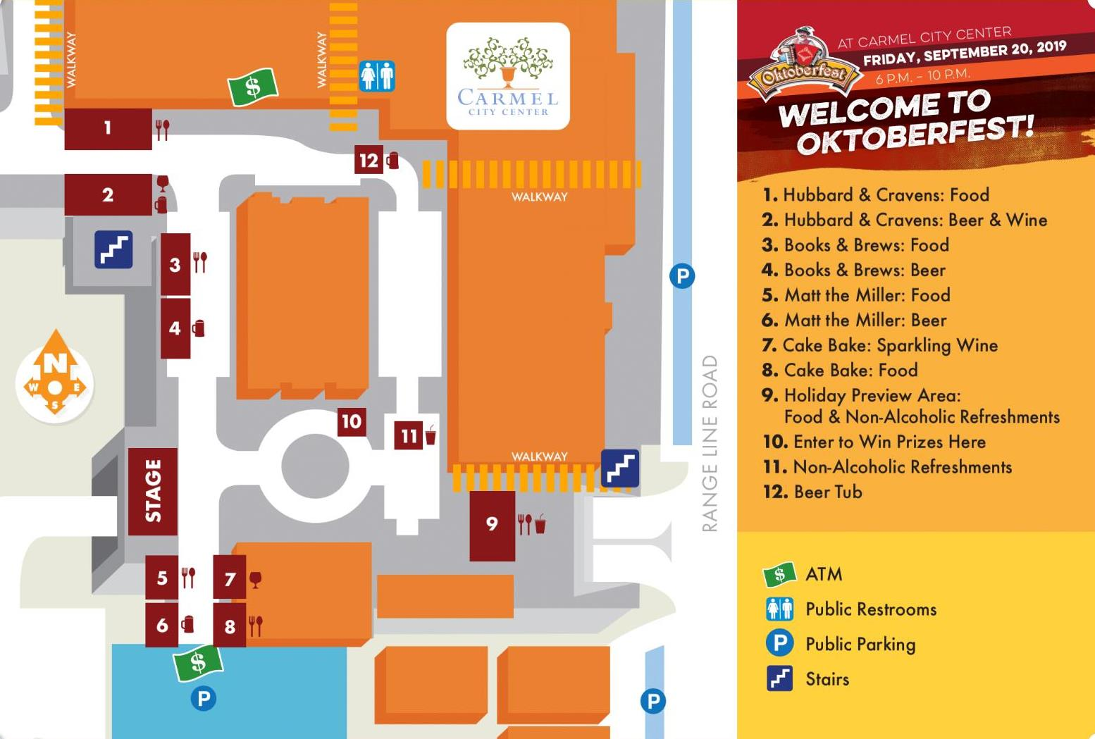 Oktoberfest event map, Carmel, Indiana