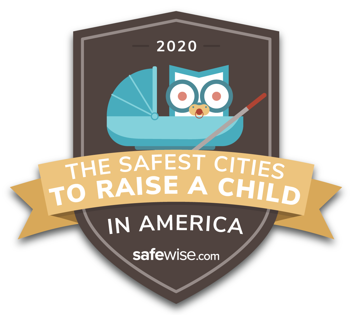 SafeWise Safest Cities to Raise a Child 2020 Badge